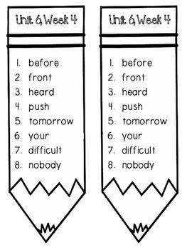 Reading Wonders Unit 6 Week 4 Pencil Pairs ***WITH BONUS PAGES***
