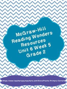Reading Wonders Unit 6 Week 5 Activities 2nd Grade