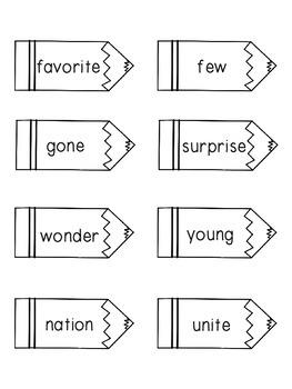 Reading Wonders Unit 6 Week 5 Pencil Pairs ***WITH BONUS PAGES***