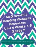 Reading Wonders Unit 6 Weeks 1-5 Activities 2nd Grade (Bundle)