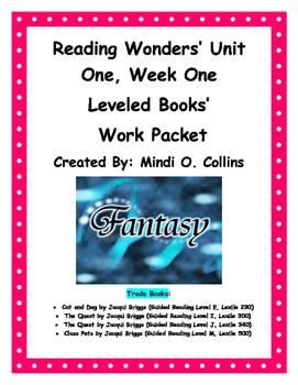 Reading Wonders' Unit One, Week One Leveled Book Work Packet
