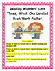 Reading Wonders' Unit Three Bundled Leveled Book Work Packet