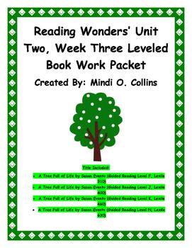 Reading Wonders' Unit Two, Week Three Leveled Book Work Packet