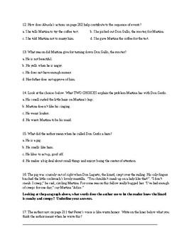 Reading Wonders Unit three week one comprehension check