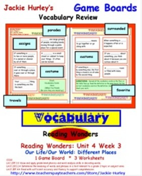 Reading Wonders Vocabulary Development