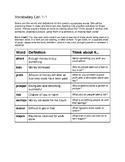 Reading Wonders Vocabulary Grade 5