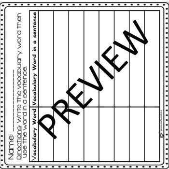 Reading Wonders 3rd grade Vocabulary Puzzles Units 3 - Units 4