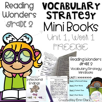 Second Grade Reading Wonders Vocabulary Strategy Mini Book {UNIT 1, WEEK 1}