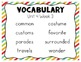 Reading Wonders Vocabulary Supplement for Grade 2, Unit 4