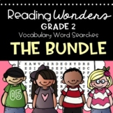 Reading Wonders Vocabulary Word Search 2nd Grade Year Long Bundle Units 1-6
