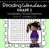 Reading Wonders Vocabulary Word Search Unit 4 Bundle 2nd grade