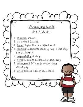 Reading Wonders Vocabulary Word Search Unit 5 Bundle 2nd grade