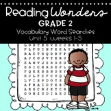 Reading Wonders Vocabulary Word Search Unit 5 Bundle 2nd grade
