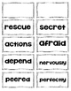 Reading Wonders Vocabulary Word Wall Cards