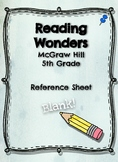 Reading Wonders- Weekly Glance, Blank Template