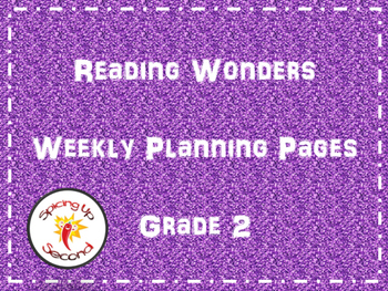 Reading Wonders Weekly Planning Pages