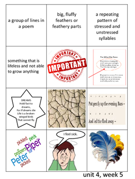 Reading Wonders Weekly Vocabulary Cut and Paste (unit 4)