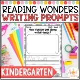 Reading Wonders Kindergarten- Weekly Writing Prompts