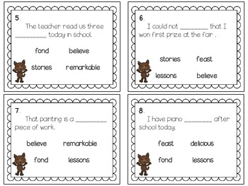 Reading Wonders~ Wolf! Wolf! story activities (Unit 2, Week 2)