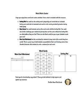 Reading Wonders Word Work (Unit 1 Week 5)