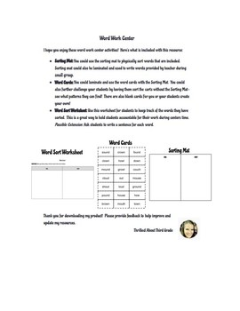 Reading Wonders Word Work (Unit 3 Week 3)