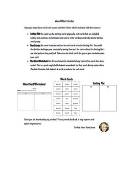 Reading Wonders Word Work (Unit 3 Week 4)