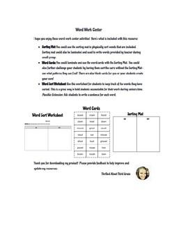 Reading Wonders Word Work (Unit 4 Week 4)