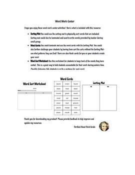 Reading Wonders Word Work (Unit 4 Week 5)