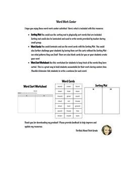 Reading Wonders Word Work (Unit 5 Week 5)