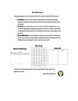 Reading Wonders Word Work (Unit 6 Week 2)