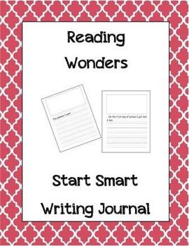 McGraw Hill Reading Wonders Writing Journal 1st Grade Start Smart