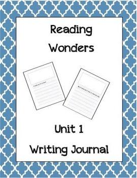 McGraw Hill Reading Wonders Writing Journal 1st Grade Unit 1