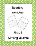 McGraw Hill Reading Wonders Writing Journal 1st Grade Unit 2