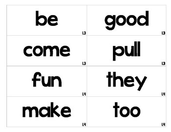 Reading Wonders first grade word wall words