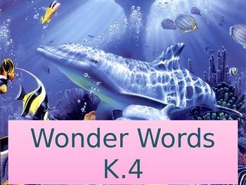 Reading Wonders kindergarten high frequency words 4th 9 weeks