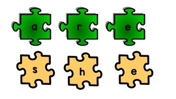 Reading Wonders sight word puzzles for Kindergarten