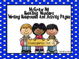 Reading Wonders Unit 1 Writing Responses and Activity Pages