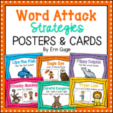 Reading Word Attack Strategies Posters and Cards