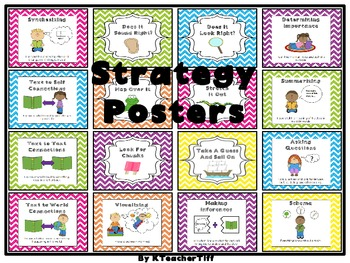 Reading Word Attack and Comprehension Strategy Posters