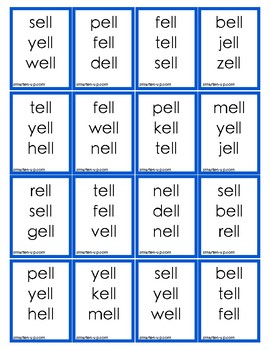 Reading Word Family -ell with added Comprehension