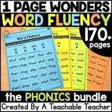Phonics Drills Word Reading Fluency BUNDLE