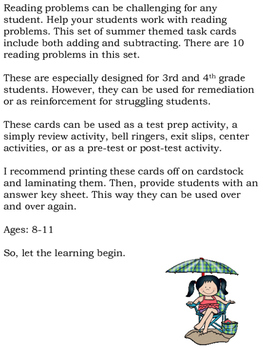 Reading Word Problems for Lower Elementary: Adding and Subtracting
