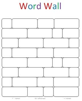 Reading Word Wall Bricks