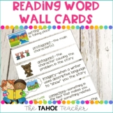Reading Word Wall Vocabulary Cards
