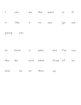 Reading Word Wall Words by Trimester -k