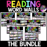 Reading Word Walls Bundle - 200 Half Page Reading Posters,