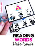 Reading Words Bull's Eye Poke Game