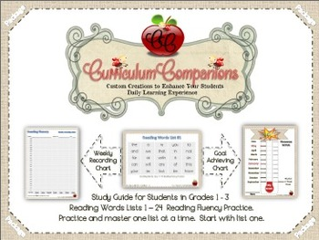 Nonsense Words - Reading Words Fluency - Complete Study Package