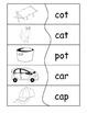 Reading Words Puzzles CVC pattern B&W {level 1}