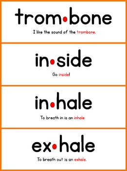 Reading Words by Syllable